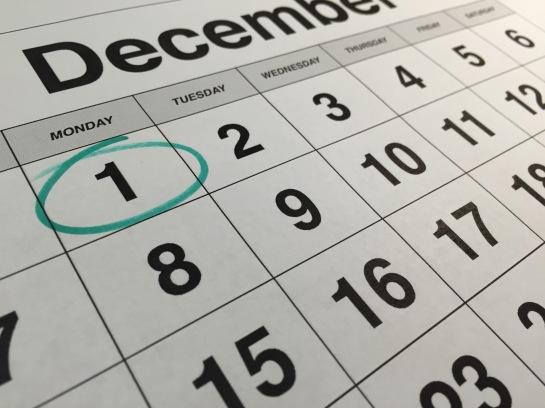 Day One for December calendar
